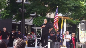 Alfredo Figueroa,a member of the organizing committee and also a member of LULAC was master of ceremonies for the unveiling.
