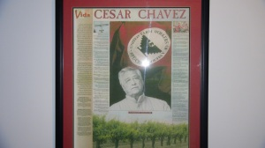 This was part of the art show and it gives a history of Cesar Chavez..truly an American hero