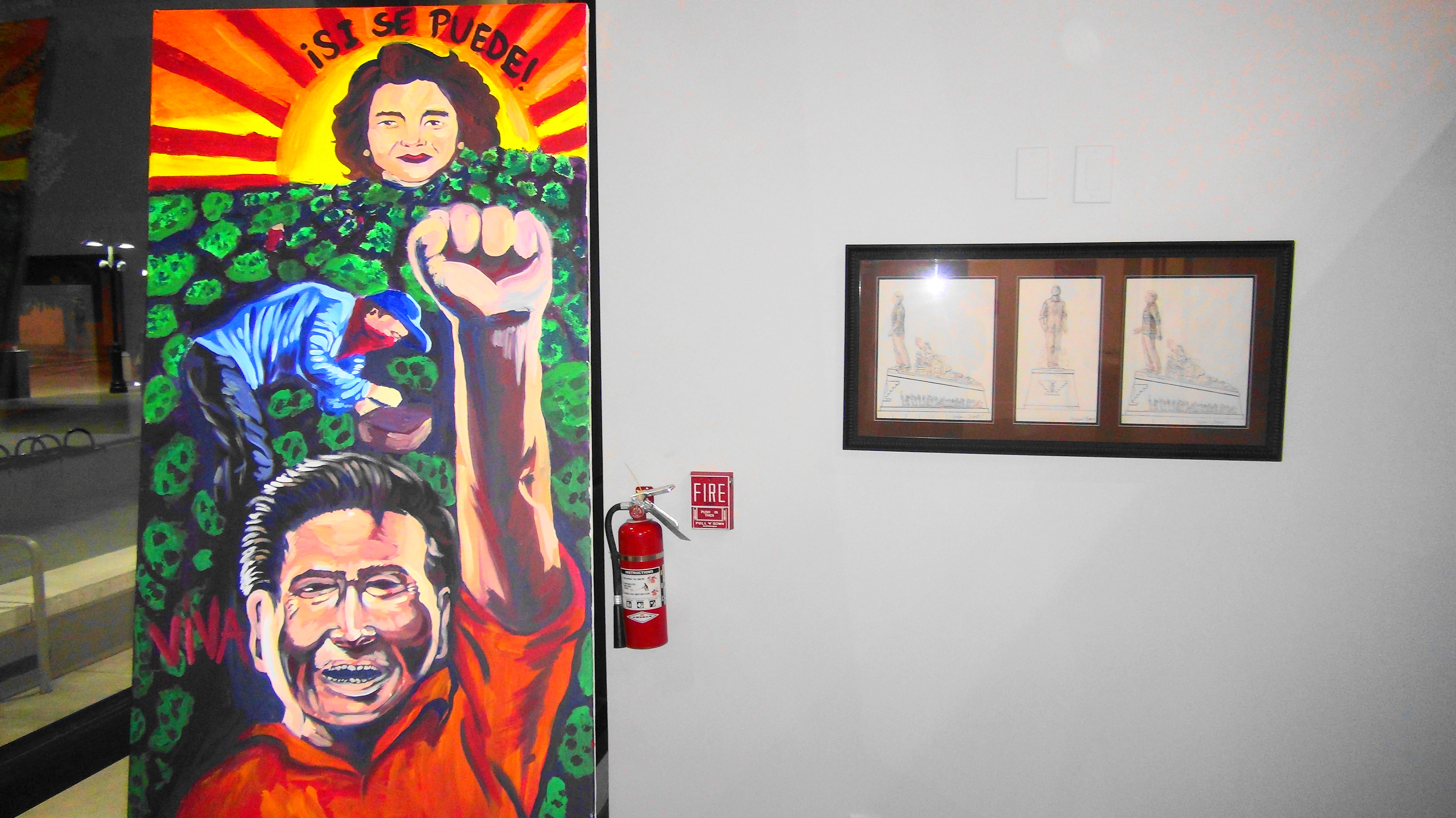 Cesar Chavez And Dolores Huerta Art